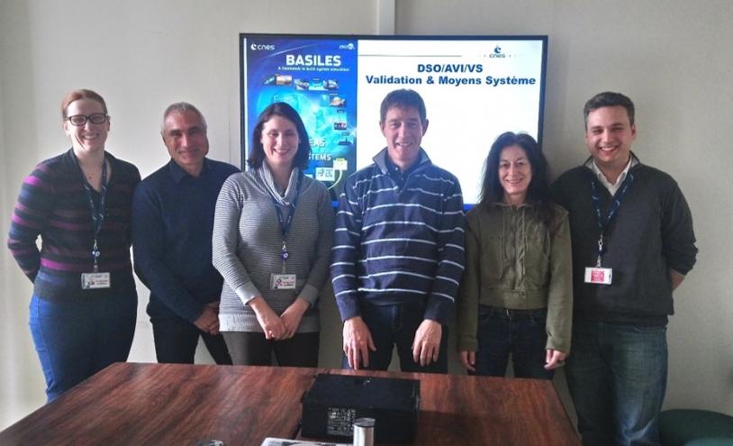 Une partie de l'équipe de spécialistes en simulation du CNES à Toulouse