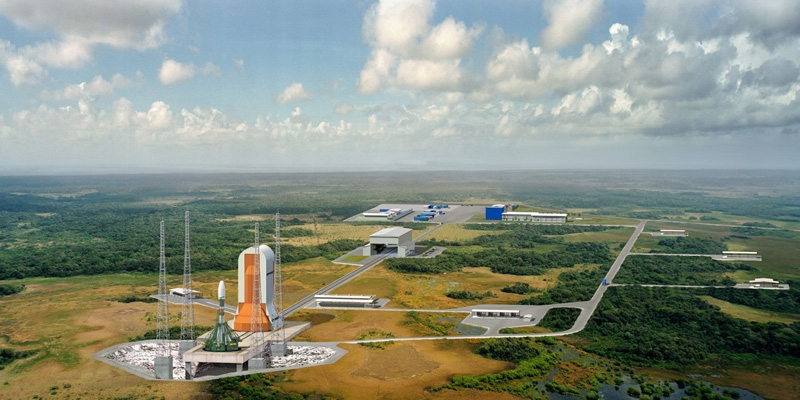 Artist's impression of the Soyuz launch pad in Guiana; credits: ESA/CNES/D.Ducros