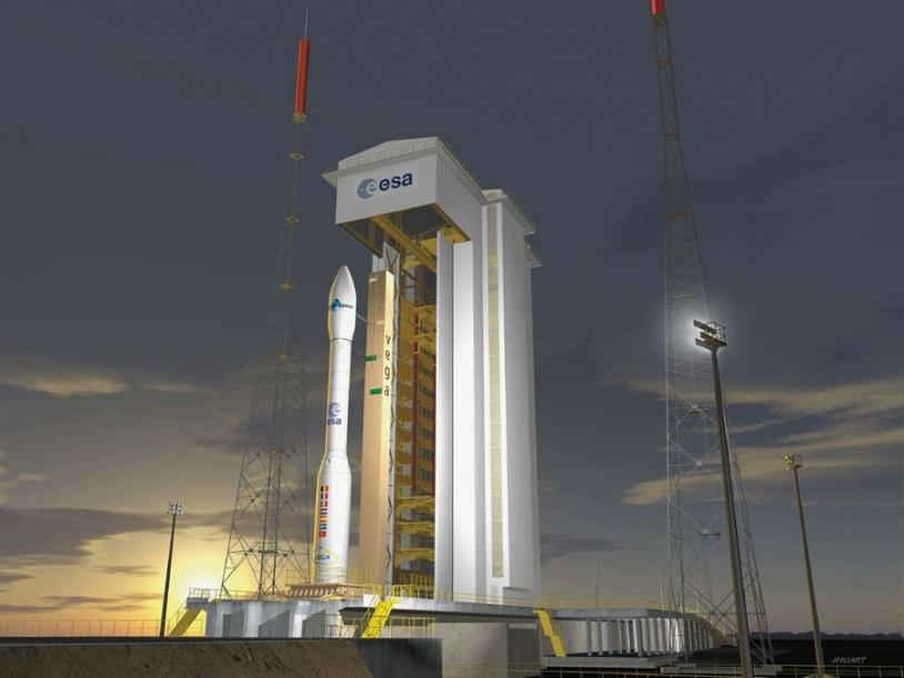 Vega Launcher (artist's view). Copyright : ESA/Jacky Huart