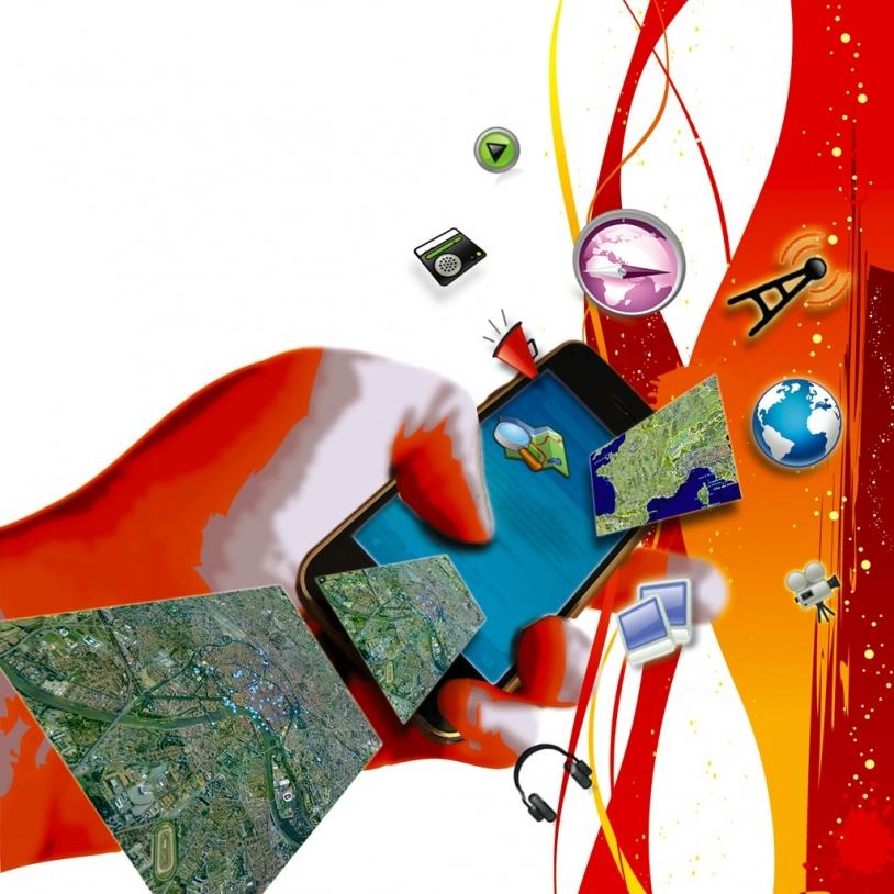 Cible privilégié de e-Corce : les portails Internet de masse. Crédit : CNES.