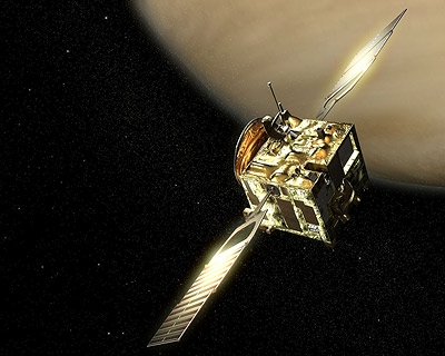 La sonde Venus Express. Crédit : Ill. ESA.