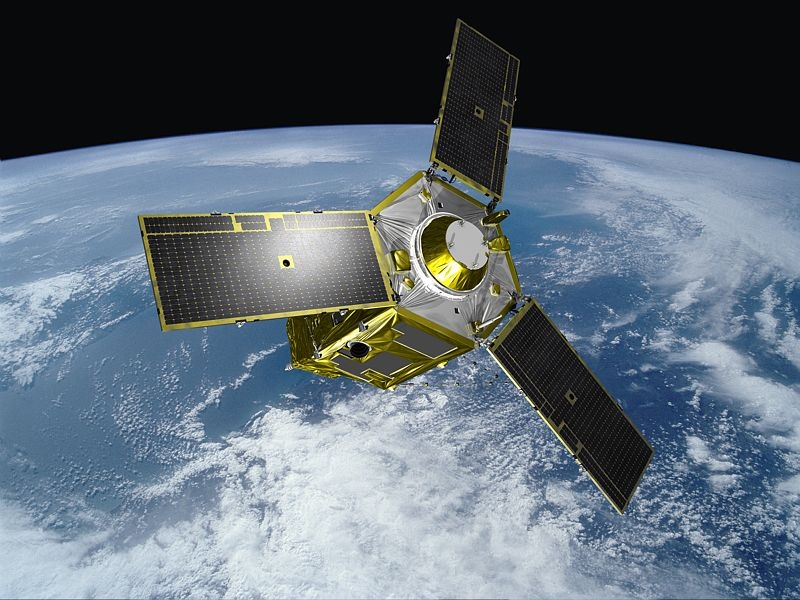 One of the 2 Pleaides satellites in orbit. Credits: Ill. EADS/Astrium/Groupe Master Image.