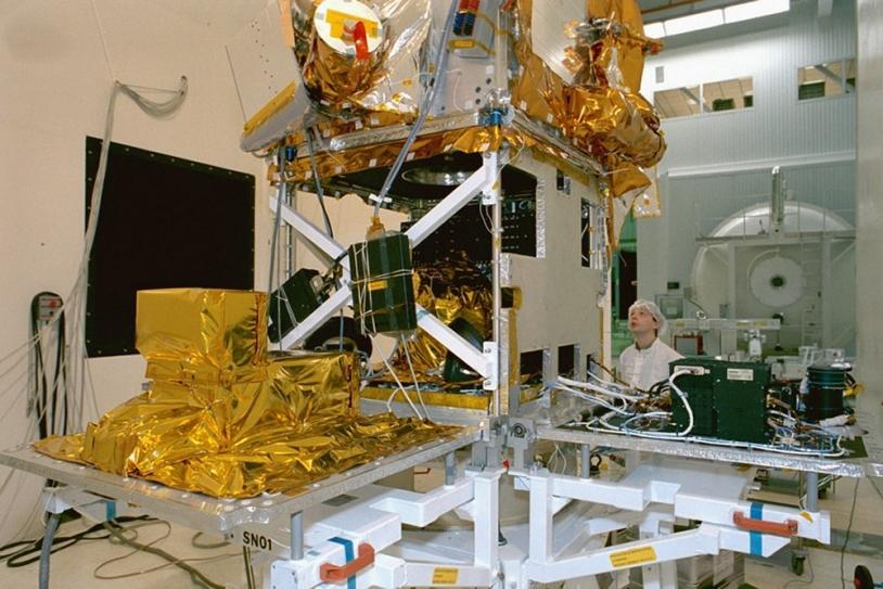 Plateforme Proteus de la série de satellites Jason. Crédits : P. Le Doaré.