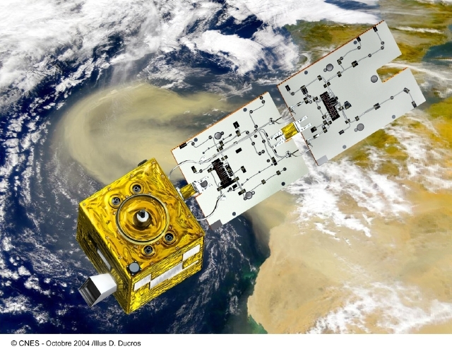Parasol was launched into the A-Train orbit on 18 December 2004. Credits: CNES/Ill. D. Ducros.