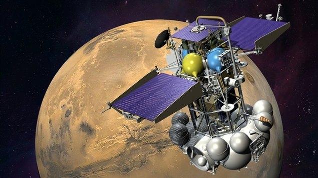 Sonde Phobos-Grunt . Crédits : Ill. Roscosmos.