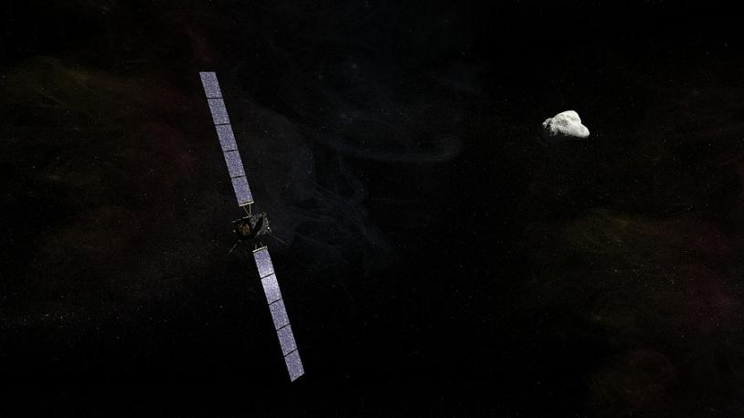 Rosetta has already travelled 6 billion km on its journey to comet Churyumov-Gerasimenko. Credits: CNES/EKIS France, 2013.