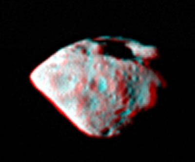 Steins en 3D le 5 septembre. Crédits : ESA ©2008 MPS for OSIRIS Team MPS/UPM/LAM/IAA/RSSD/INTA/UPM/DASP/IDA.