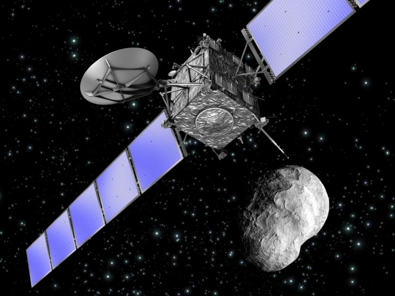 La sonde Rosetta est passée à seulement 800 km de l'astéroïde Steins le 5 septembre. Crédits : ESA/ Ill. C. Carreau.