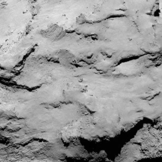 Site I is located on the smaller lobe of 67P's nucleus. Credits: ESA/Rosetta/MPS for OSIRIS Team MPS/UPD/LAM/IAA/SSO/INTA/UPM/DASP/IDA.