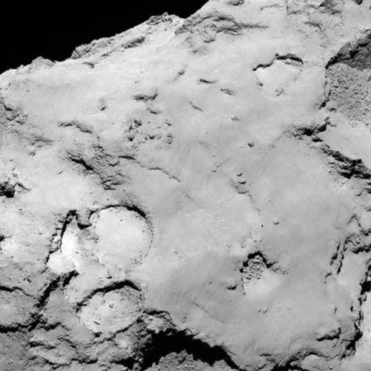 Site C is located on the larger lobe of 67P's nucleus. Credits: ESA/Rosetta/MPS for OSIRIS Team MPS/UPD/LAM/IAA/SSO/INTA/UPM/DASP/IDA.