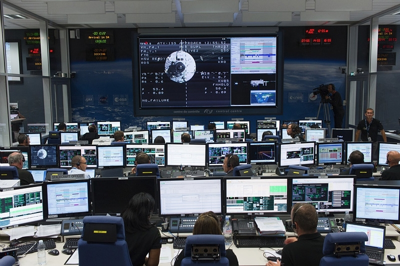 The ATV Control Centre at CNES in Toulouse. Credits: CNES/M. Pédoussaut, 2014.