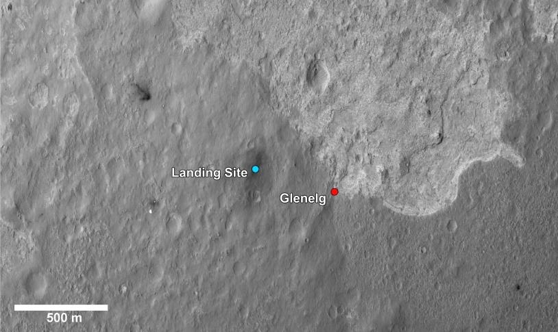 Le site de Glenegl, future destination de Curiosity